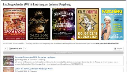 Liste der Events am Lumpigen Donnerstag 2016 in Landsberg am Lech!