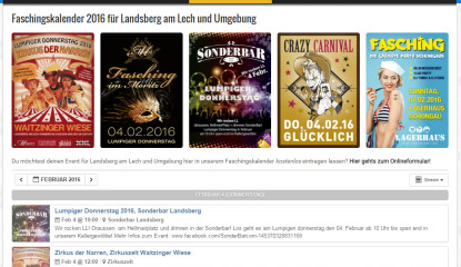Liste der Events am Lumpigen Donnerstag 2016 in Landsberg am Lech!