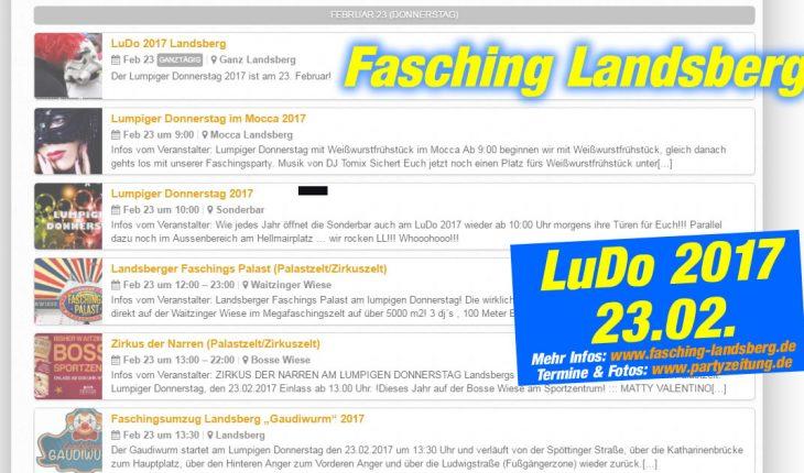 Der große Faschingskalender 2017 für Landsberg